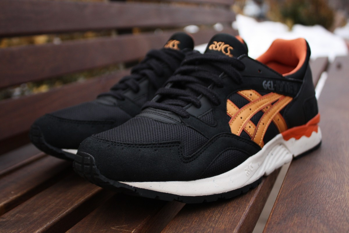 mens asics gel lyte 5 silver orange