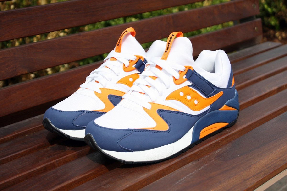 Saucony Grid 9000 White/Blue/Orange