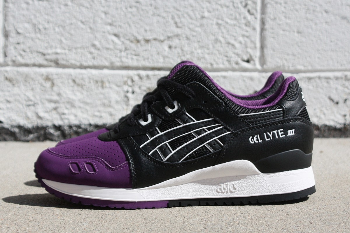 ASICS Gel-Lyte III '50/50' in Purple/Black
