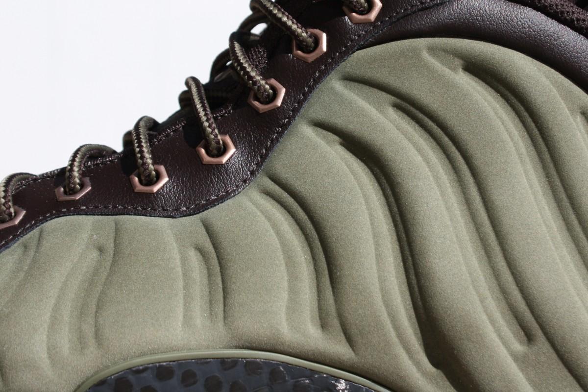 Nike Air Foamposite One Prm in Olive/Gum