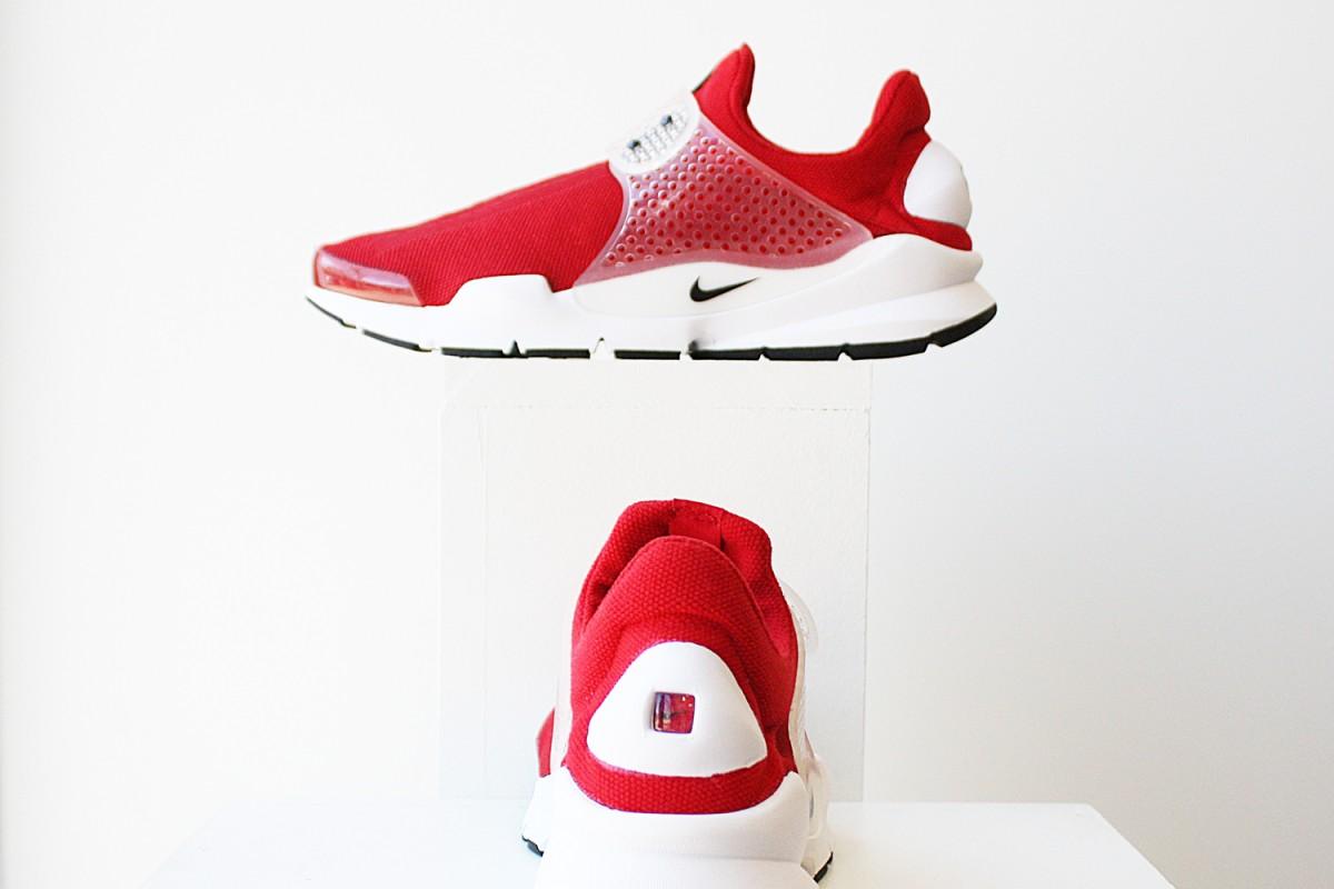 NikeSockDartJcrdGymRed
