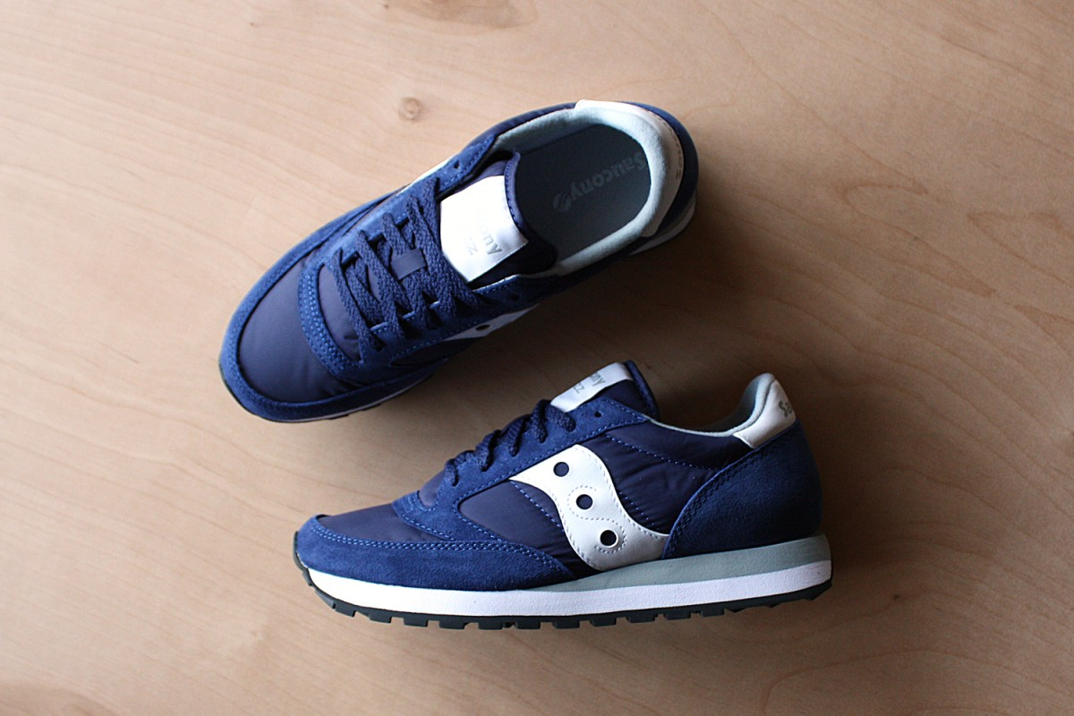 Men's Saucony Jazz Original in Blue/White