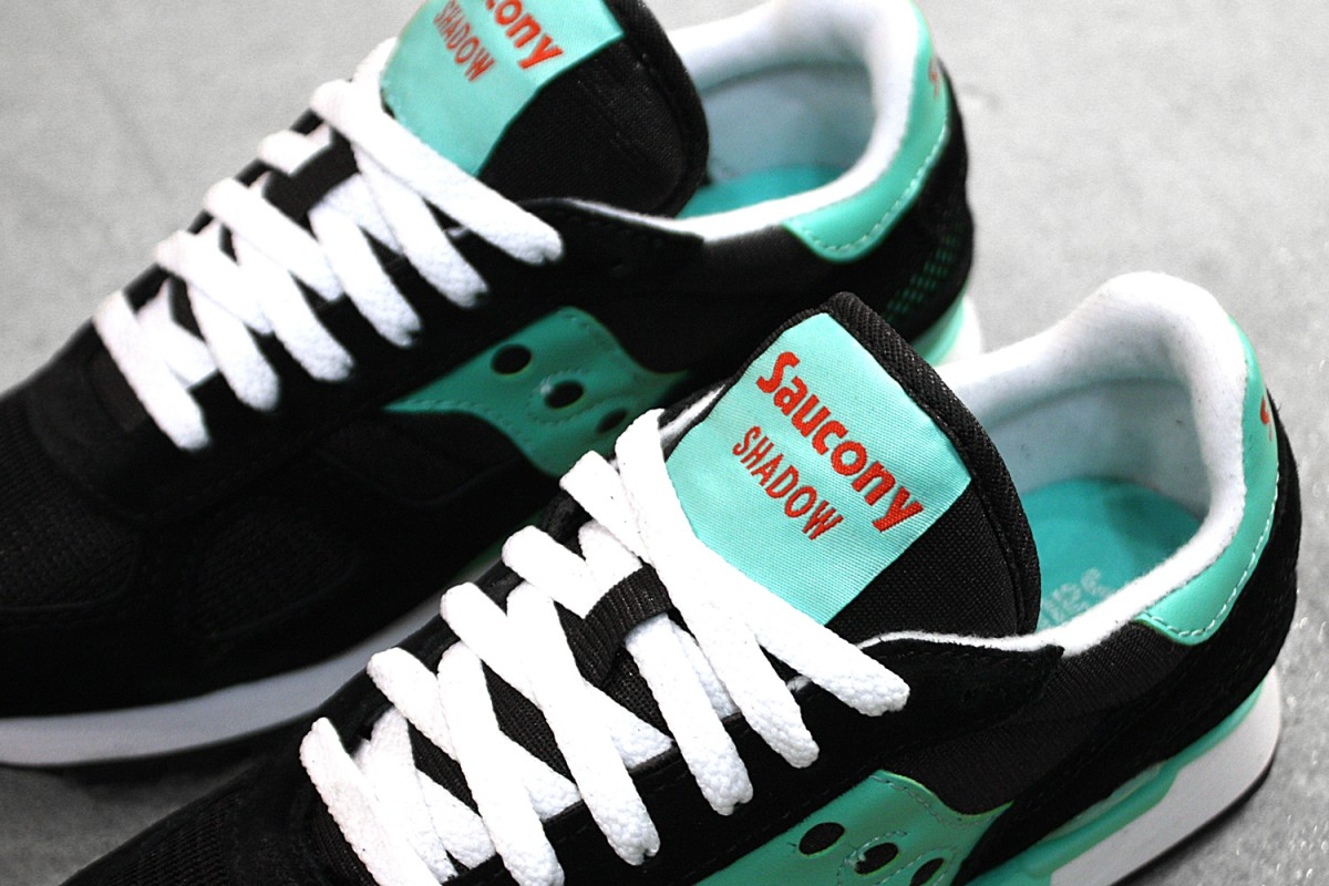 Womens Saucony Shadow Original In Black/Aqua